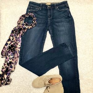 Paige Skinny Lightly Distress Jeans